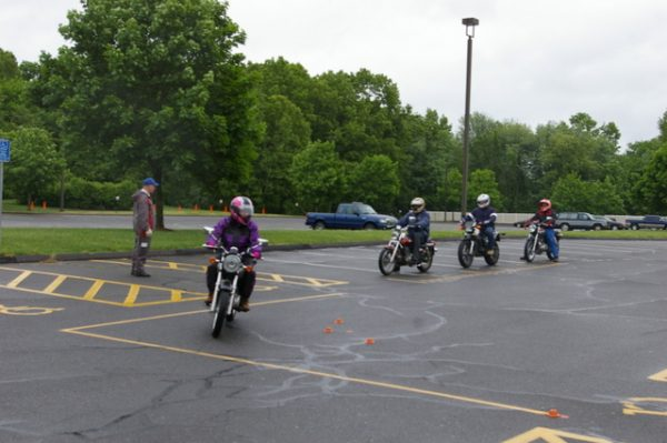 1-Riding around cones
