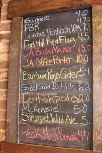 Q - beer board