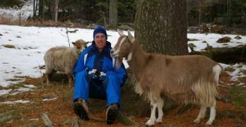 Doug with goat
