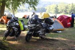 Two bikes with tents