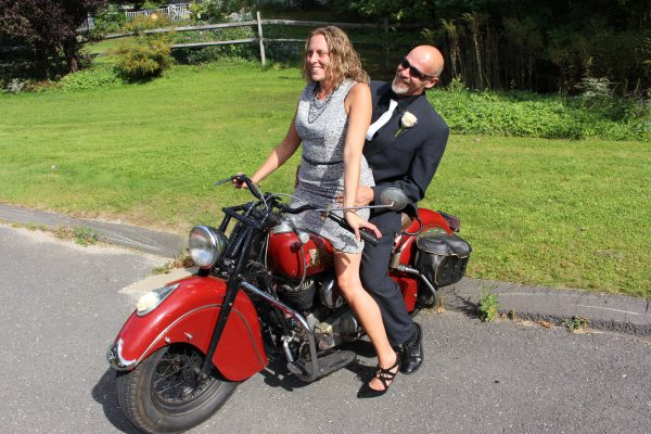 the bride wanted a motorcycle ride - ride ct & ride new england