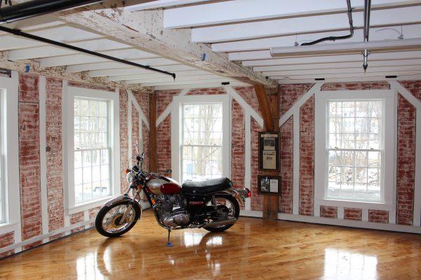 Bike against windows