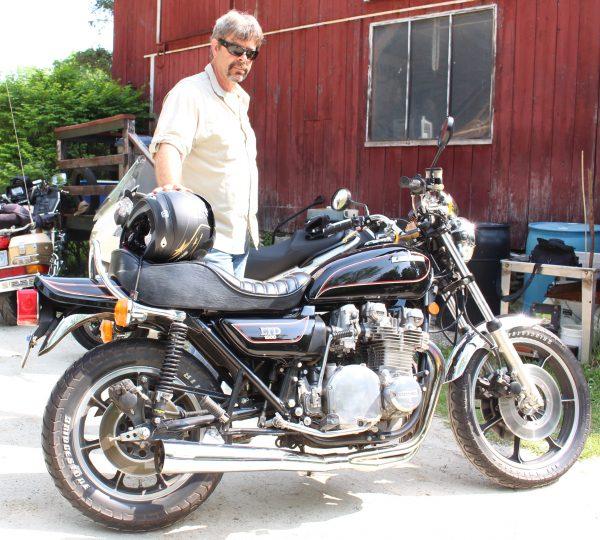 Wayne McCarrier and his 1978 Kawasaki LTD 1000