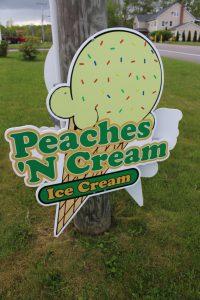 Peaches 'N Cream - sign