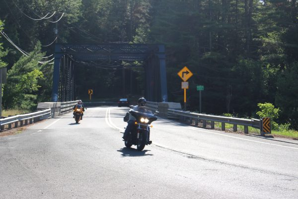Bikes on Route 219 bridge