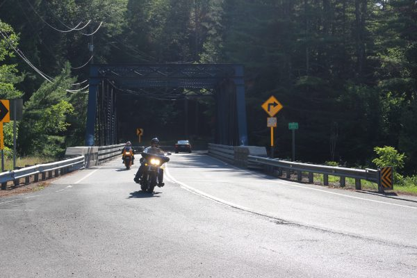 Bikes on Route 219 - bridge far