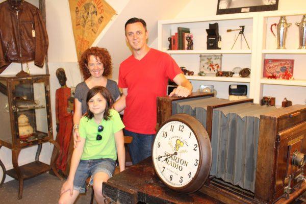 Sarah Hamilton and Joe Snow with Snow's daughter Aurelia