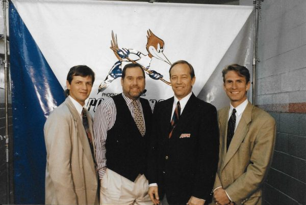 "Mario ""Goose"" Gosselin, Bud Wilkinson, Dave Tunell and Keith Gretzk"