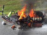 Fiery Start To Motorcycle Cannonball