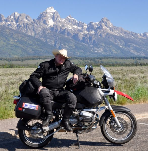 Craig Johnson and his 1996 BMW R1100GS
