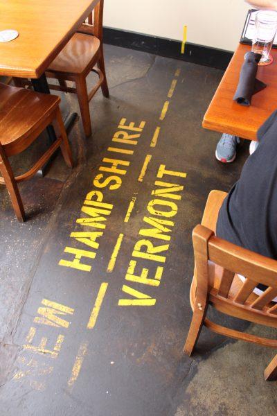 Line on floor - v