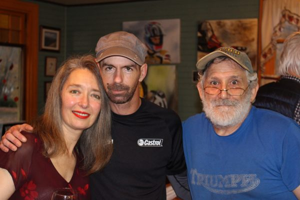 Ian Hemingway with Toymakers Cafe owners Annie and Greg Bidou