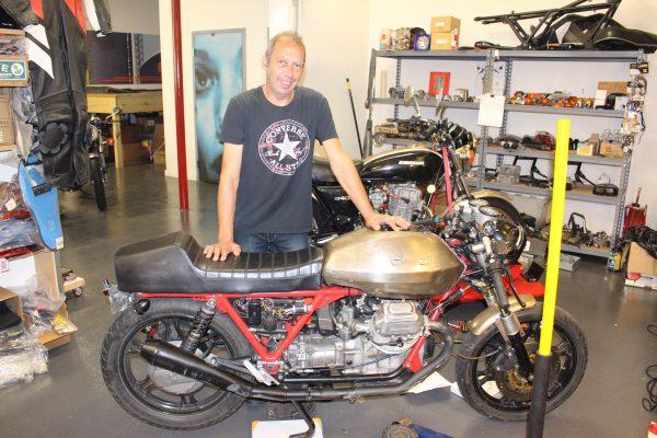 Antony Katz and 1979 Moto Guzzi SP1000