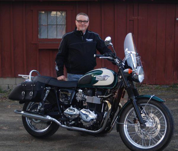 Arlo Mudgett and his Triumph Bonneville T100